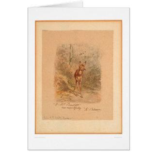 森林(0567A)の子鹿 カード