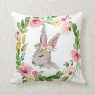 森林Bohoのバニーウサギのベビーの子供部屋の枕 クッション