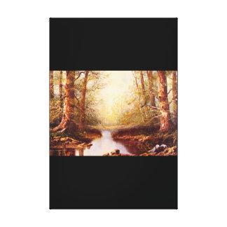 森林Scene', de_Dutch 1月van Masters キャンバスプリント