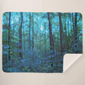森林Sherpa神秘的な毛布 シェルパブランケット