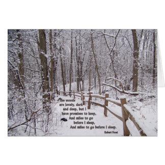 """""""森美しい""""は勇気付けられるのカード設計です カード"""