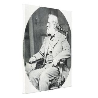 椅子のロバートE.リーSitting同盟大将 キャンバスプリント