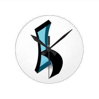 椅子の抽象的なスケッチ ラウンド壁時計