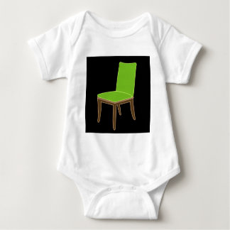 椅子の食事 ベビーボディスーツ