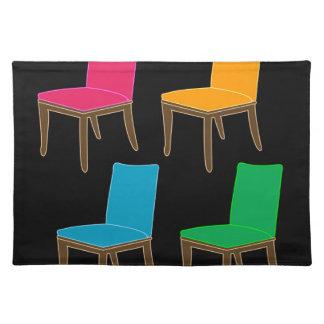 椅子の食事 ランチョンマット