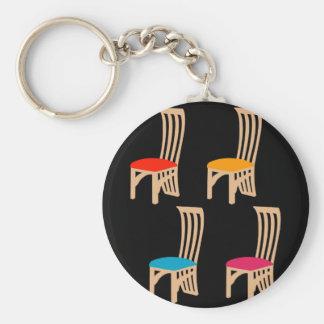 椅子を食事しているデザイナー キーホルダー