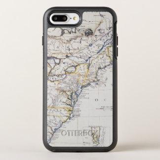 植民地アメリカ: 地図、c1770 オッターボックスシンメトリーiPhone 8 plus/7 plusケース