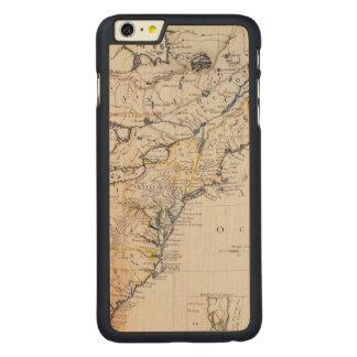 植民地アメリカ: 地図、c1770 CarvedメープルiPhone 6 plus スリムケース