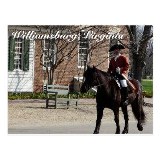 植民地ウィリアムズバーグの乗馬馬 ポストカード
