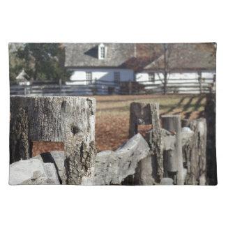 植民地ウィリアムズバーグの塀 ランチョンマット