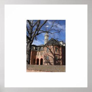 植民地ウィリアムズバーグの知事宮殿 ポスター