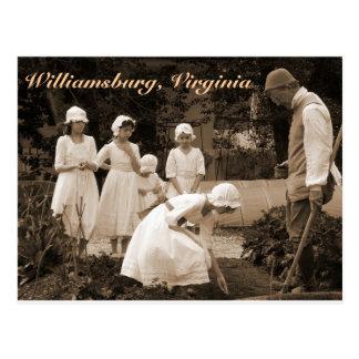 植民地ウィリアムズバーグの種を植えること ポストカード