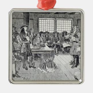 植民者との会議のウィリアム・ペン メタルオーナメント