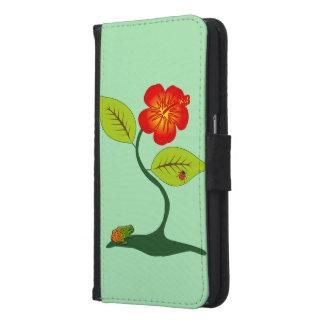 植物および花 GALAXY S6 ウォレットケース
