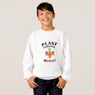 植物によって動力を与えられる筋肉ビーガンのビーガンのトレーニング スウェットシャツ