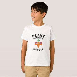 植物によって動力を与えられる筋肉ビーガンのビーガンのトレーニング Tシャツ