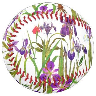植物のアイリスによっては花の庭のソフトボールが開花します ソフトボール