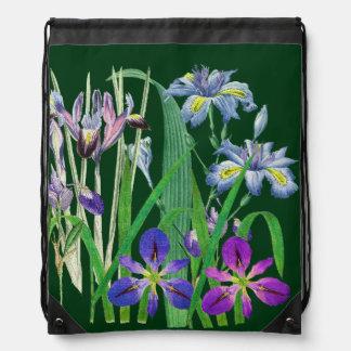 植物のアイリスによっては花の庭Redouteが開花します ナップサック