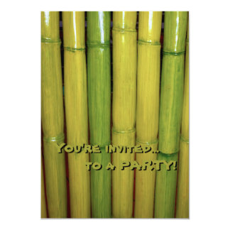 植物のアジア禅の緑のタケ茎 カード