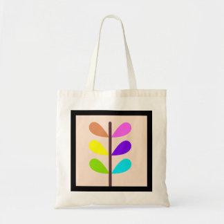 植物のカラフルな抽象芸術 トートバッグ