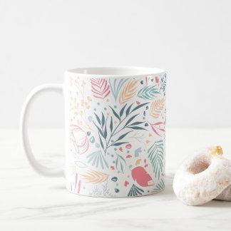 植物のパターン コーヒーマグカップ