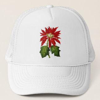 植物のポインセチアの帽子 キャップ