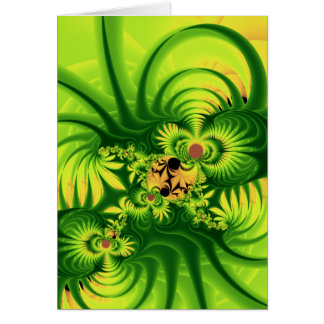 植物の侵入 グリーティングカード