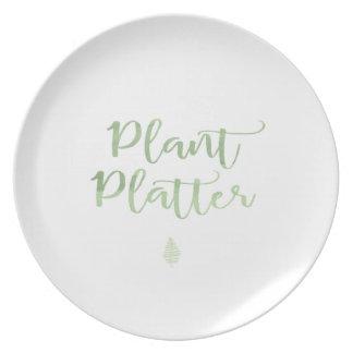 植物の大皿 プレート