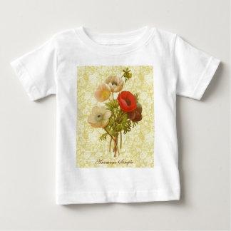 植物の旧式なアネモネ ベビーTシャツ