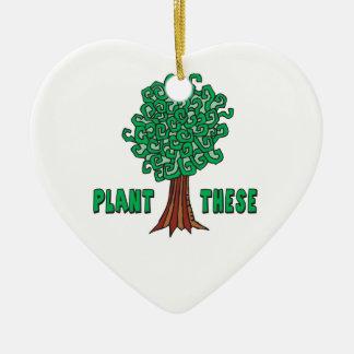 植物の木 セラミックオーナメント