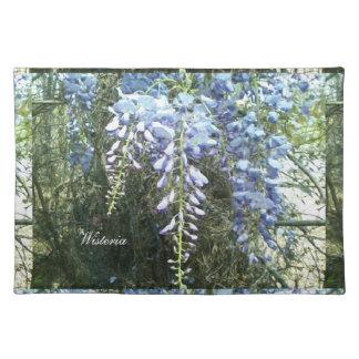 植物の森林藤の花の自然 ランチョンマット