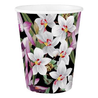 植物の熱帯蘭によっては花の紙コップが開花します 紙コップ
