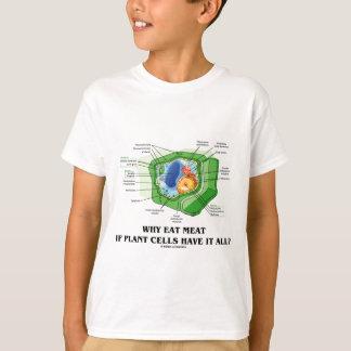 植物の細胞にそれがすべてあったらなぜ肉を食べて下さいか。 (Vegのおもしろい) Tシャツ
