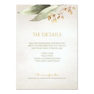 植物の緑の草木のヴィンテージの素朴な明細カード カード