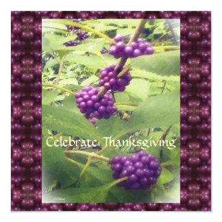 植物の美しい美しいの果実の感謝祭 13.3 スクエアインビテーションカード
