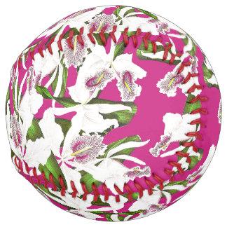植物の蘭によっては花のソフトボールが開花します ソフトボール