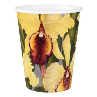 植物の蘭の花の花の紙コップ 紙コップ