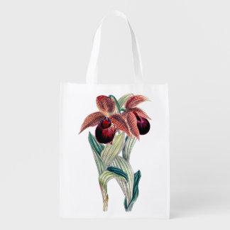 植物の蘭(アツモリソウTibeticum) エコバッグ
