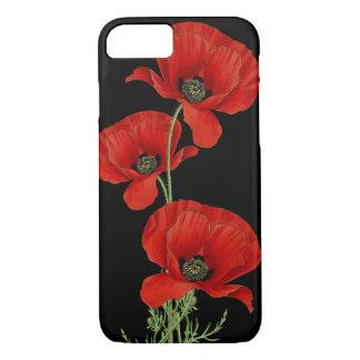 植物の赤いケシのヴィンテージ iPhone 7ケース