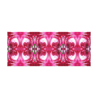 植物の赤いバラのDblの写真のフラクタルのパネルの精神 キャンバスプリント
