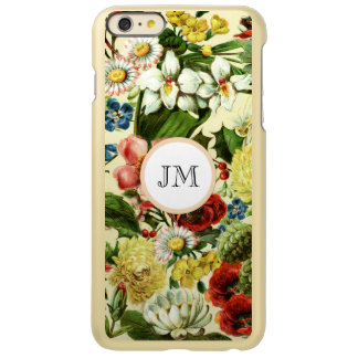 植物の野生の花の夏の庭のモノグラム INCIPIO FEATHER SHINE iPhone 6 PLUSケース