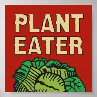 植物の食べる人のレトロのデザインのベジタリアンのビーガン ポスター