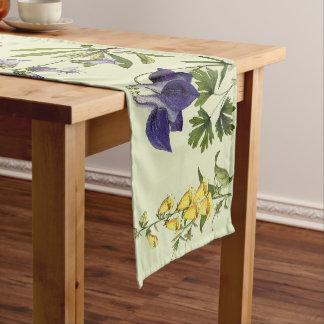 植物の高山の花の花のテーブルのランナー ロングテーブルランナー