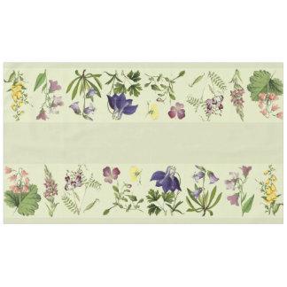 植物の高山の花の花柄のテーブルクロス テーブルクロス