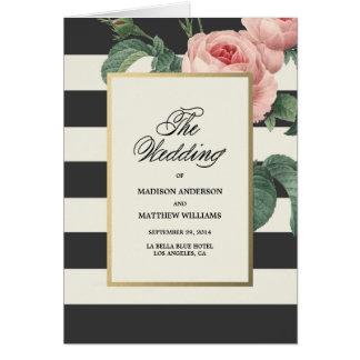 植物の魅力|の結婚式プログラム グリーティングカード