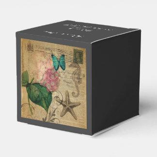 植物のbohoのアジサイの蝶ヒトデのフランス語 フェイバーボックス