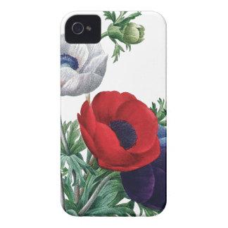 植物のiPhone 4/4Sの場合のケシのアネモネ Case-Mate iPhone 4 ケース