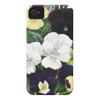 植物のiPhone 4/4Sの場合のパンジー Case-Mate iPhone 4 ケース