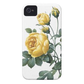 植物のiPhone 4/4Sの場合の黄色バラ Case-Mate iPhone 4 ケース
