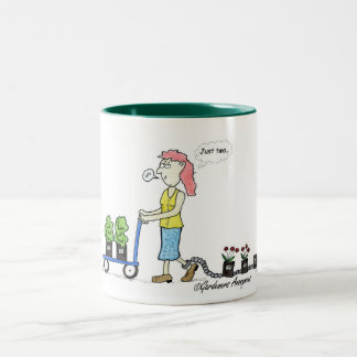 植物のShopaholicのマグ ツートーンマグカップ